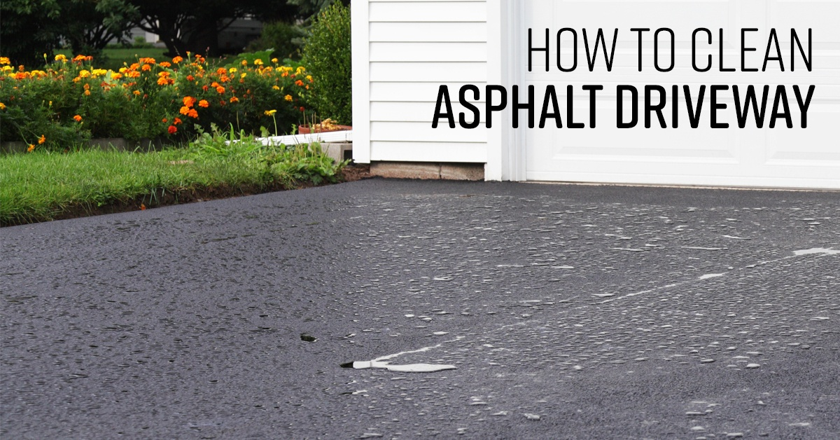 How To Clean Asphalt Driveway Simple