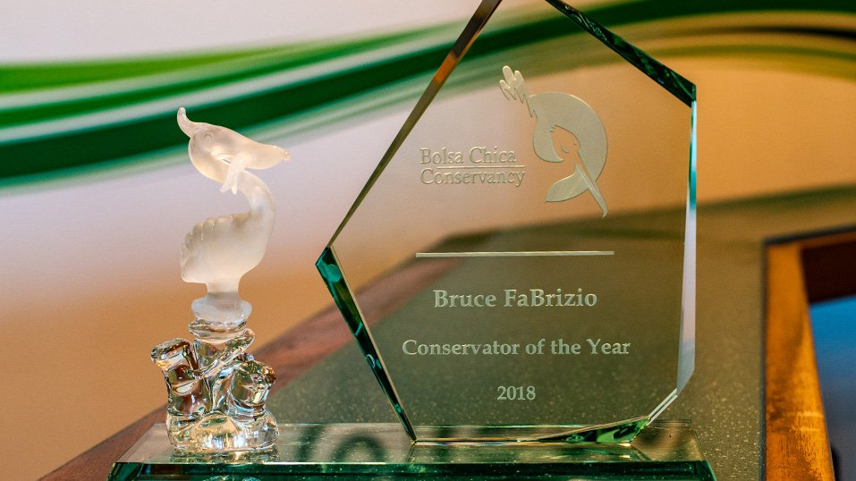 2018: Bruce FaBrizio is named Bolsa Chica Conservancy's Conservator of the Year.  Read the article <a target=_blank href=https://simplegreen.com/news-and-media/conservator-of-the-year>here</a>.