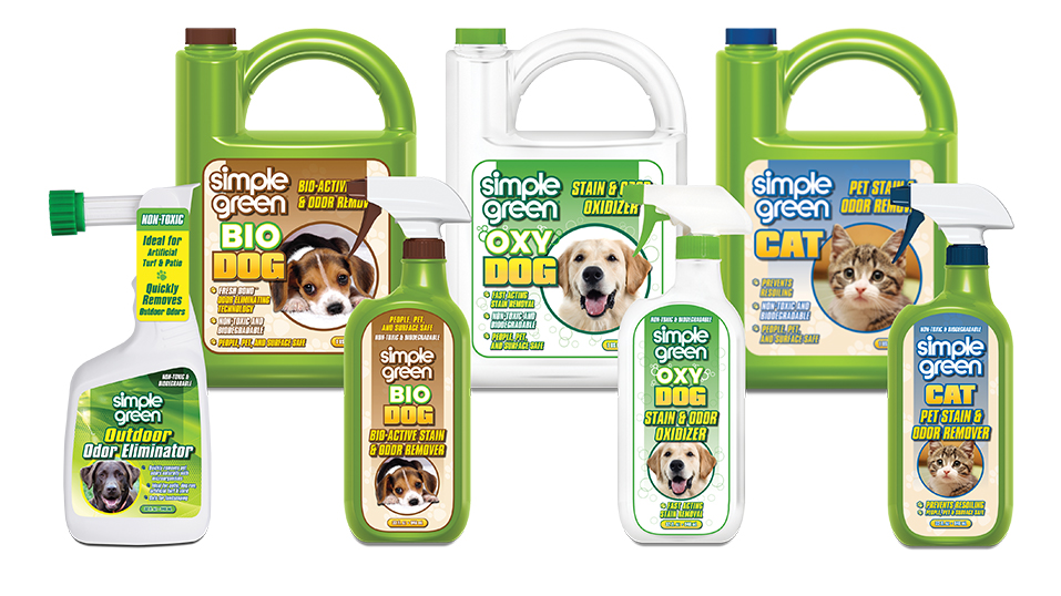 2009: Simple Green introduces a line of non-toxic pet stain and odor removers.