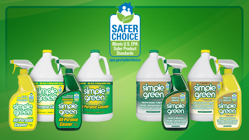 2017: Simple Green All-Purpose Cleaner earns the U.S. EPA's Safer Choice label. Learn more <a target=_blank  href=https://simplegreen.com/safer_choice.php>here.</a>