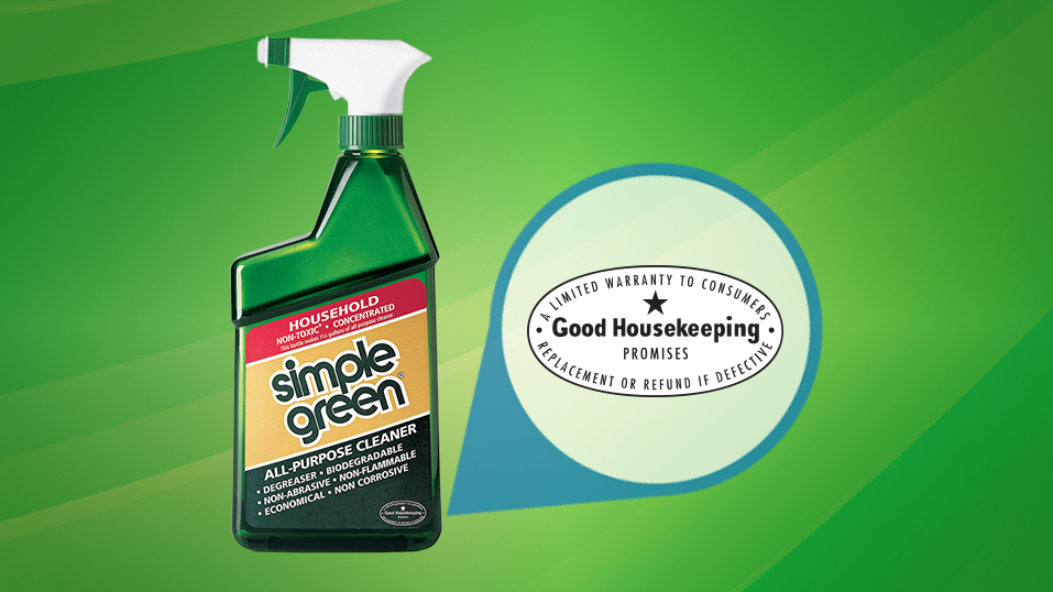 1988: Simple Green All-Purpose Cleaner receives the Good Housekeeping Seal of Approval. Additional products are also later awarded the seal.  Learn more <a target=_blank  href=http://www.goodhousekeeping.com/product-reviews/seal>here.</a>