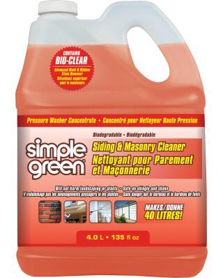 Concentré pour nettoyeurs à pression de Simple Green® - Nettoyant pour Parement et Maçonnerie